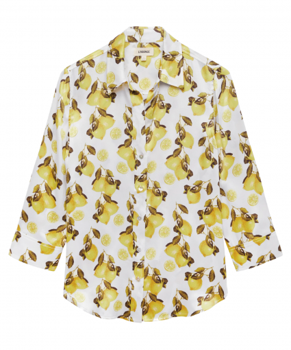 dani blouse ivory yellow lemon l'agence