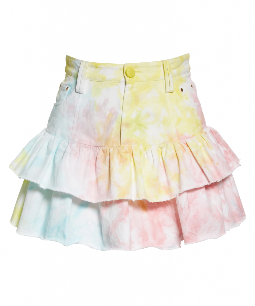 landen skirt rainbow tie dye loveshackfancy