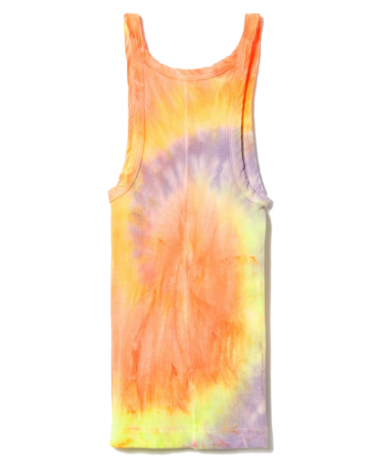 ribbed tank neon tie dye spiral redone back