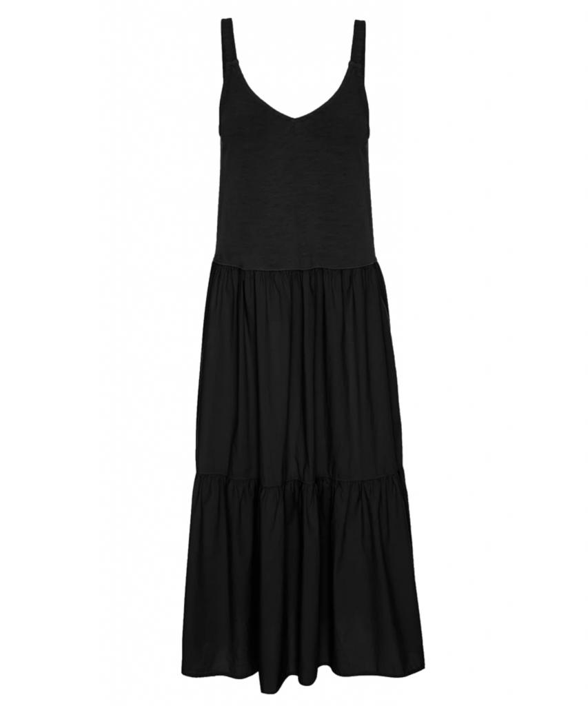 tamber dress jet black flat nation ltd