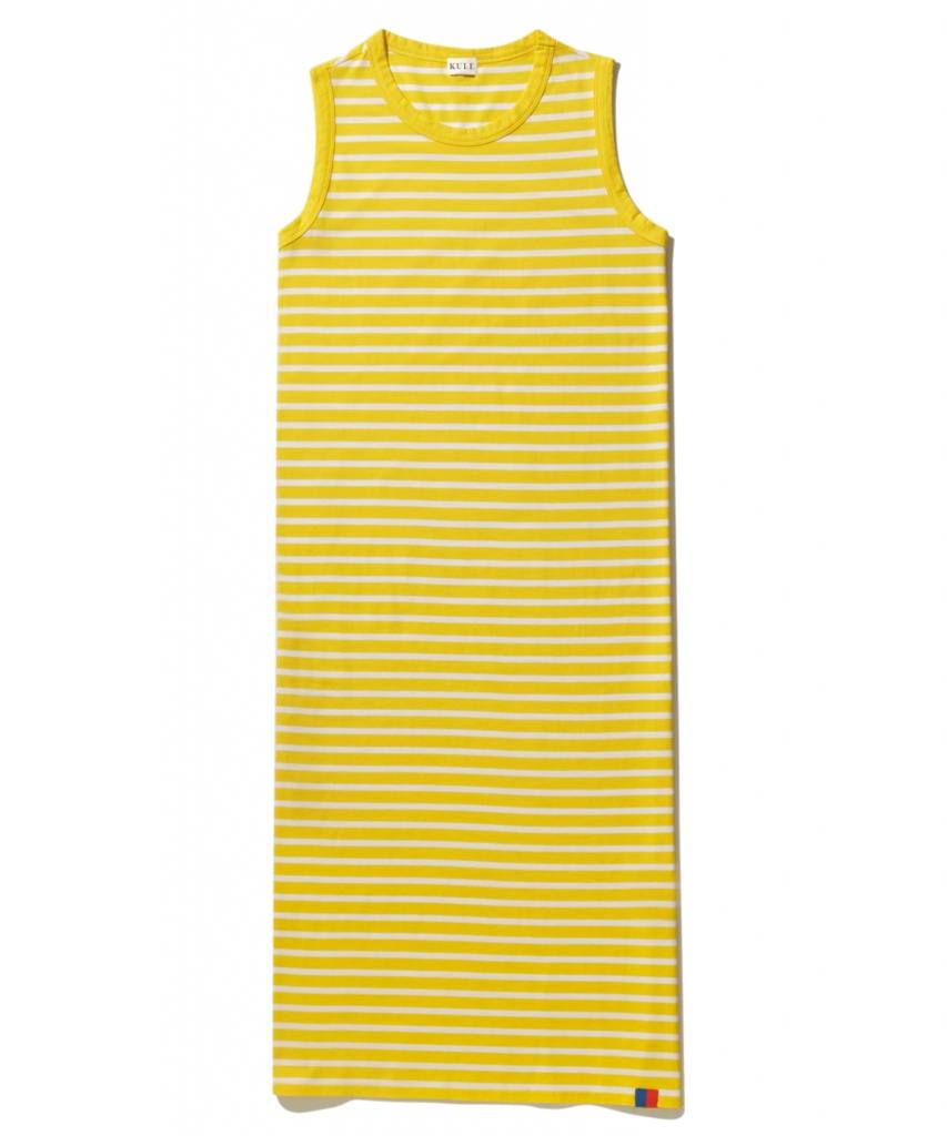 the tank dress yellow white kule