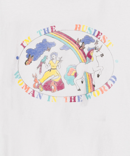 businest woman tee close up vintage white redone