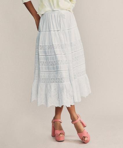 donna skirt white loveshackfancy