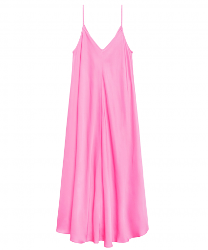 lorraine trapeze dress rose bloom l'agence